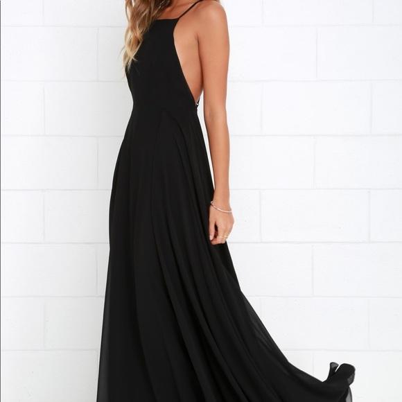 651a6b082d1f Lulu s Dresses   Skirts - CCO! Lulu s Mythical Kind of Love Black Maxi Dress